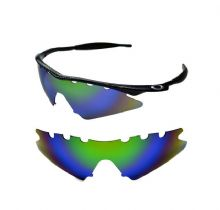 NEW POLARIZED GREEN REPLACEMENT VENTED SWEEP LENS FOR OAKLEY M-FRAME SUNGLASSES